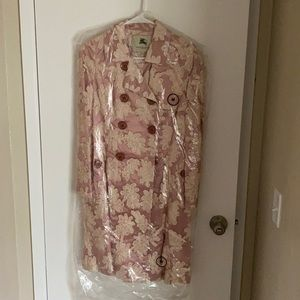 Burberry London pink floral trench coat